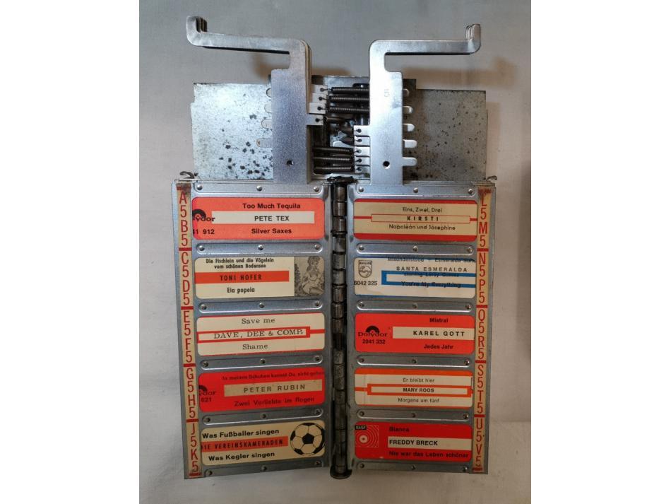 Rock Ola wallbox Fernwähler Model 1555/1557 - Satz Titelstreifenhalter
