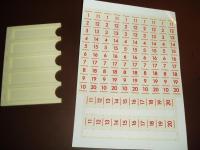 Zahlenaufkleber für Titelhalter Wiegandt Bimbo-Box